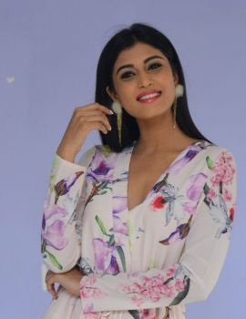 Divya Rao in Short Dress at Degree College Movie Pre Release Event