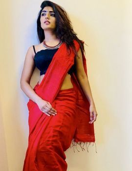 Actress Eesha Rebba Latest Stills in Red Saree