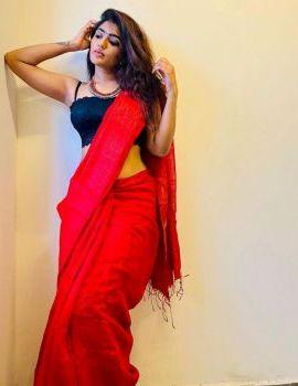 Actress Eesha Rebba Latest Stills in Red Saree