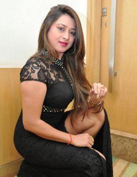 Telugu Actress Farah Khan in Black Dress at Malini and Co Movie Press Meet