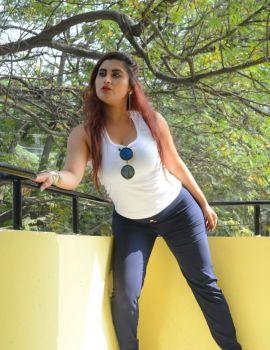 Telugu Actress Gunnjan Aras Stills at Wife I Movie Release Press Meet