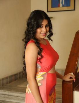 Hamida in Red Dress at Bhadram Be Careful Brotheru Audio Launch