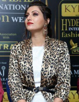 Hamsa Nandini at Kyron Hyderabad International Fashion Week Press Meet