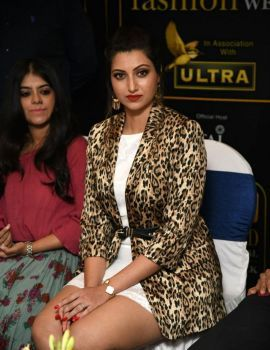 Hamsa Nandini at Kyron Hyderabad International Fashion Week Press Meet