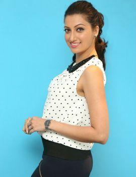 Hamsa Nandini Sizzling in White Dress Photos