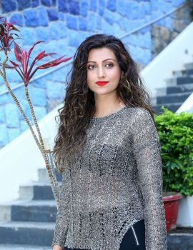 Hamsa Nandini Stills at Bang Bang New Year Event 2019 Poster Launch Press Meet