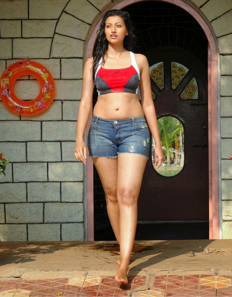 Hamsa Nandini Thigh Show from Movie Adhineta