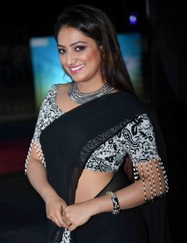 Haripriya Saree Stills at Ellidde Illeethanka Movie Audio Launch