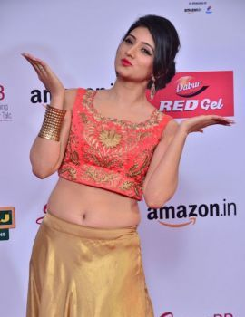Harshika Poonacha at Mirchi Music Awards South 2017 Red Carpet
