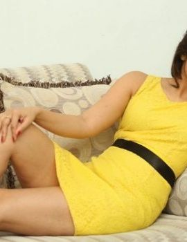 Tamil Actress Harshika Poonacha Latest Stills in yellow dress