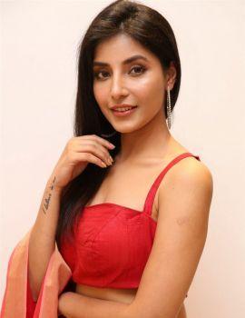 Harshita Gaur Latest Stills in Red Dress at Q9 Fashion Studio Launch