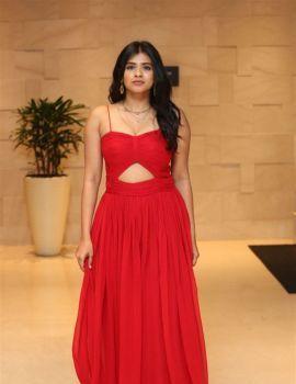 Hebah Patel in Red Dress at Aha OTT Platform App Preview Launch