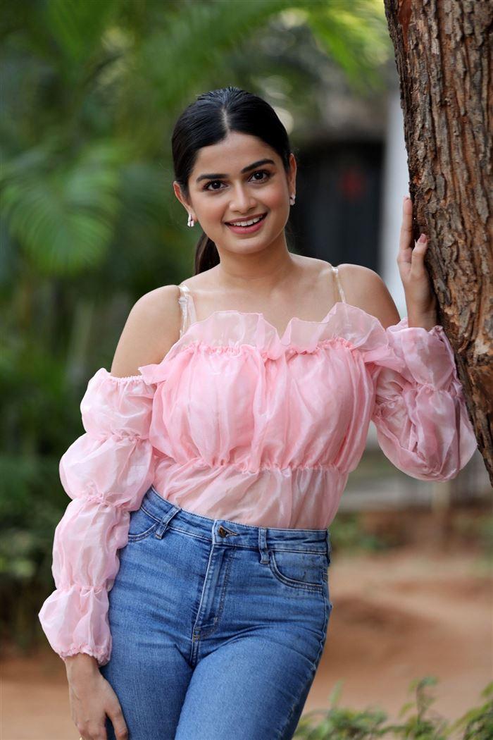 Telugu Actress Hemal Ingle Stills at Power Play Movie Success Meet