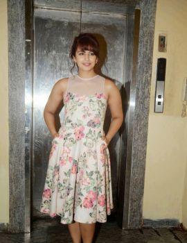 Huma Qureshi in Floral Dress at Film Badlapur Screening