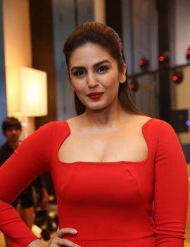 Huma Qureshi in Red Dress at SIIMA 2016 Press Meet