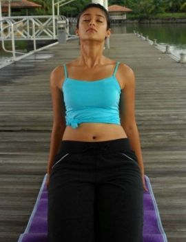 Ileana Yoga Photos from Kick Movie