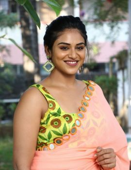 Tamil Actress Indhuja in Saree at Super Duper Movie Trailer Launch