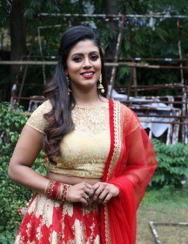 Tamil Actress Iniya Stills at Mamangam Movie Team Meet in Chennai