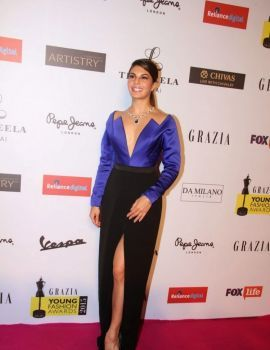 Jacqueline Fernandez at Grazia Young Fashion Awards 2015 Red Carpet