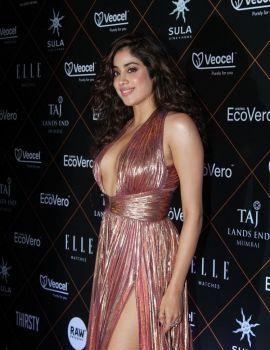 Bollywood Actress Janhvi Kapoor at ELLE Beauty Awards 2019
