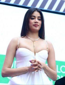 Janhvi Kapoor in White Dress at Grazia Magazine Cover Launching