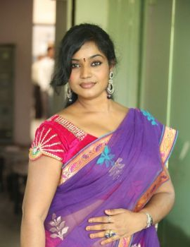 Telugu Actress Jayavani at Rajamahal Movie Pre-Release Press Meet