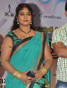 Telugu Actress Jayavani in Saree at Minugurulu Movie Audio Launch