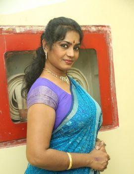 Telugu Actress Jayavani Stills at Yavvanam Oka Fantasy Audio Release