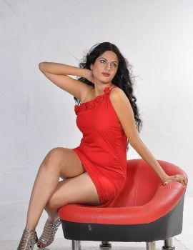 Jinal Pandya Latest Hot Red Dress Photoshoot Stills