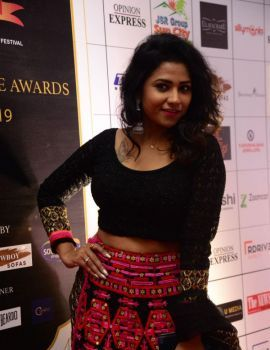 Telugu Actress Jyothi at Dadasaheb Phalke Awards South 2019
