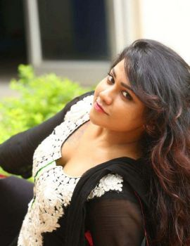 Telugu Movie Side Actress Jyothi in Black Salwar Stills