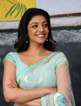 Kajal Agarwal in Transparent Saree in Movie Mr. Perfect