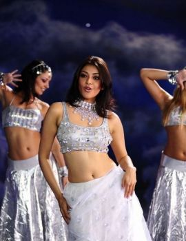 Kajal Agarwal in White Outfits from Telugu Movie Om Shanti