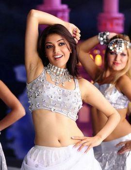 Kajal Agarwal in White Outfits from Telugu Movie Om Shanti