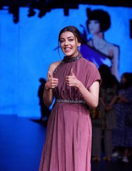 Kajal Agarwal Pics at Lakme Fashion Week 2018