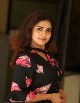 Karunya Chowdary at 3 Monkeys Movie Press Meet