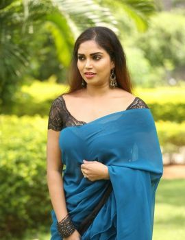 Karunya Chowdary Photos at 3 Monkeys Movie First Look Logo Launch