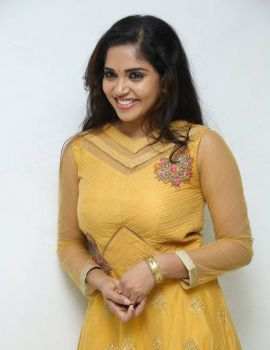 Karunya Chowdary Photos at Seetha Ramuni Kosam Movie Interview