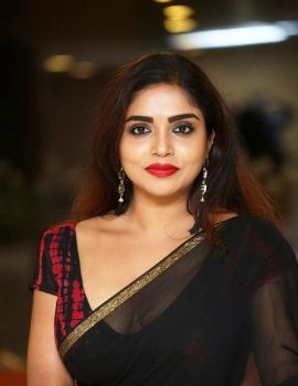 Karunya Chowdary Stills at 3 Monkeys Movie Pre Release Event