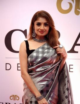 Actress Karunya Ram Saree stills Dadasaheb Phalke Awards South 2019 Red Carpet