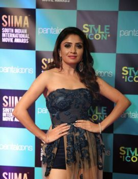 Kannada actress Karunya Ram Stills at SIIMA 2019 Held at Doha