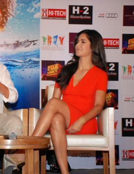 Bollywood Actress Katrina Kaif Hot Thigh Show Stills
