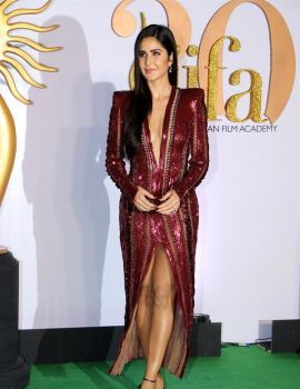 Bollywood Actress Katrina Kaif Stills at IIFA Rocks 2019 Green Carpet