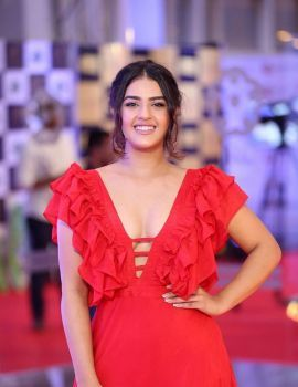 Kavya Thapar in Red Gown at Mirchi Music Awards South 2018 Red Carpet