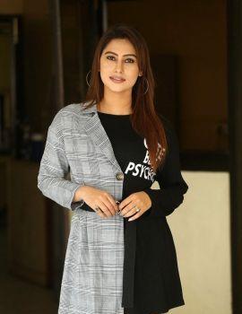 Telugu Actress Keisha Rawat Stills at Vittalwadi Movie Interview