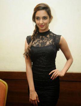 Kiara Advani In Black Dress at Fugly Hindi Movie Promotion