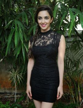 Kiara Advani In Black Dress at Fugly Hindi Movie Promotion