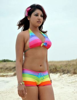 Komal Jha Hot Stills in Beach
