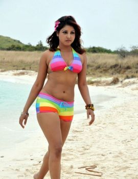 Komal Jha Hot Stills in Beach