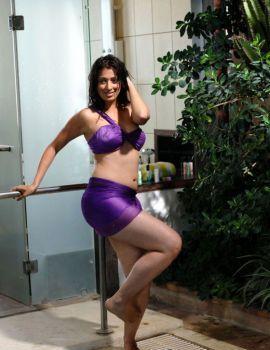 Lakshmi Rai Hot Bikini Stills from Telugu Movie Adhinayakudu